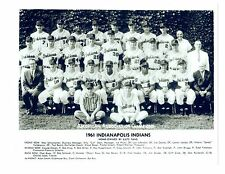1961 INDIANAPOLIS INDIANS 8X10 TEAM PHOTO AMERICAN ASSOCIATION CHAMPIONS INDIANA
