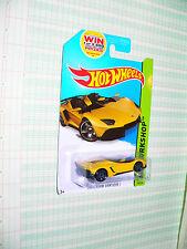 2014 Hot Wheels  HW Workshop  Lamborghini Aventador J #196/250 y win logo