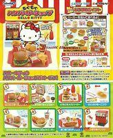 Re-Ment Miniature Sanrio Hello Kitty Burger Restaurant Full Set of 8 pieces
