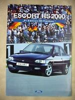 Ford Escort RS2000 F1 Edition HH Frentzen Brochure