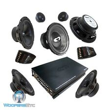 "COM 626CARS CDT AUDIO 6.5"" COMPONENT SPEAKERS & 4 CH AMP & 10"" SUB SUBWOOFER SET"