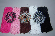 WHOLESALE LOT baby OR toddler ZEBRA LEOPARD 3 DAISY 5 HEADBANDS new VALENTINES