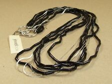 LOVELY Onyx Beaded 8 Strand Silver Chain Necklace by Jewelbox **