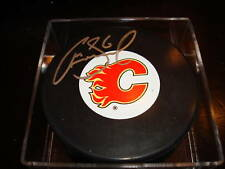 Cory Sarich Signed Calgary Flames Hockey Puck Autographed a