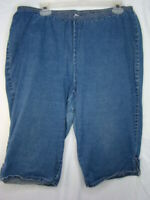 Women's 1X 18W Just My Size Capri Classic Jeans Denim Shorts AA1-8