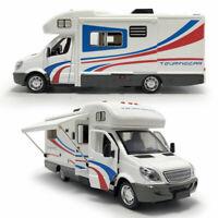 1:32 Camper Van Motorhome Touring Car Model Diecast Toy Vehicle White Kids Gift