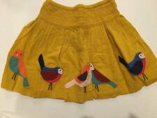 Mini Boden Decorative Skirt Yellow NWT Yellow Colorful Birds  3-4 y
