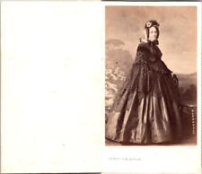 Levitsky, Paris, Femme mûre portant un beau chapeau Vintage CDV albumen carte de