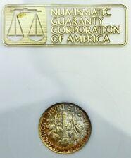 NGC Fatty Toned 1953 P Roosevelt Dime 10c MS66 Raised Gold Logo Older Holder PQ