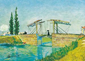Postkarte: Vincent van Gogh - Die Brücke von Lang Lois in Arles / 1888