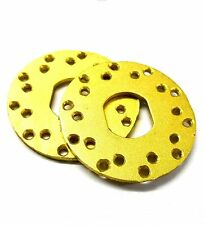 L136 Brake Disc Disk V5 x 2 12mm Oval Center 1/8 Scale Alloy Yellow