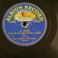 78rpm HARRY TREVOR love me & the world is mine / angel of my dreams ,albion 1194