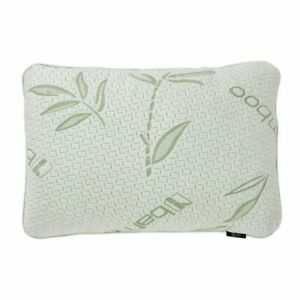 Bamboo Pillow with Washable Case, Memory Foam Contour Pillow (Standard Size)