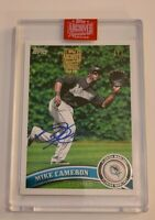 2019 topps archives signature series retired Mike Cameron True 1/1 Auto Rare