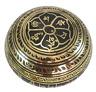 "6"" Black OM Mandala Tibetan Mantra & Symbol Carving Set 7 Metal Singing bowl-NHZ"
