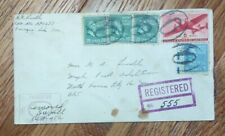 US FDC COVER 1944 REGISTERED MAIL/ U.S. ARMY POSTAL SERVICE ENVELOPE
