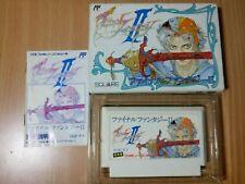 FC Final Fantasy II (2) COMPLETE IN BOX SQUARE RPG NES GAME NINTENDO FAMICOM B
