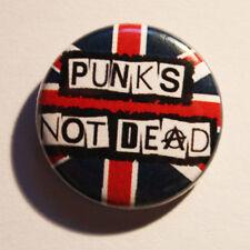 Punk's not dead Button/BADGE punk punkrock Exploited drogarsi pin oi Union Jack