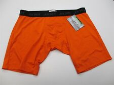 new Jockey Men's Size Xl Athletic Fitted Stretch Hiking Orange Shorts