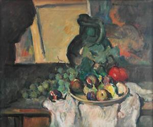 """Marcel ARNAUD """" Nature morte aux fruits """". Huile sur toile . v1313."""