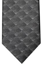 NEW BRIONI FADING GRAY TONES OPTICAL OP ART BOX PATTERN 100% SILK NECK TIE