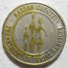 Nassau County Dept. of Social Svcs.(Freeport, New York) transit token - NY285Da