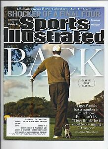 2013 Sports Illustrated Magazine April 8th Tiger Woods