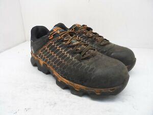 Timberland Pro Men's Powertrain Sport AT Work Shoes A1RV3 Black/Orange Size 9.5W