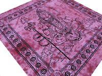 Shiva Couvre-lit Tenture Batik Fait à la main Coton Inde Hippie Ganesha Boho A9