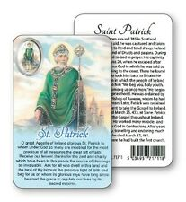 SAINT PATRICK PRAYER LAMINATED CARD WITH RESIN DROP PICTURE 100's OF OTHER ITEMS