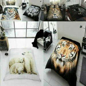 3D Faux Fur Throws Animal Blankets Printed Mink Sofa Bed Couch Soft Double/ King