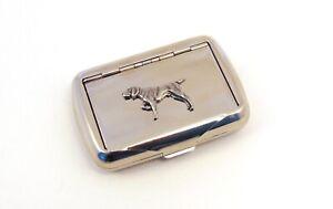 German Shorthaired Pointer Design Tobacco Tin Trinket Box Pointer Dog Xmas Gift