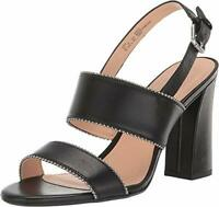 Coach Womens Rylie Beadchain Leather Peep Toe Casual, Black Leather, Size 7.0 fX