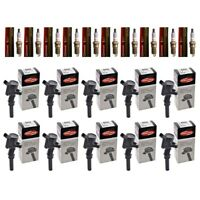 Set of 10 Motorcraft Spark Plugs SP479 + 10 Delphi Ignition Coils Ford Lincoln