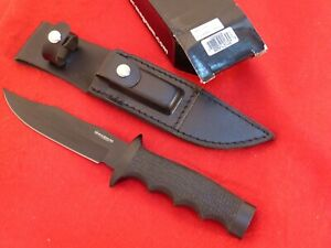 "Boker Magnum Midnight Bowie Fixed Blade Knife (6"" Black) 02MB209"