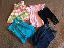 Baby girls nice clothes lot dresses leggings jeans infant size 3 to 6 months 42