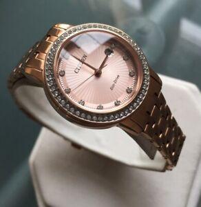 Ladies Genuine Citizen Eco Drive Silhouette Solar Watch Rose Gold FE1123-51Q