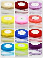 "3/8"" 10mm Quality Sheer Woven Edge Organza Chiffon Ribbon Wholesale price"
