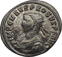 Probus  280AD Silvered  Ancient  Roman Coin Sol Sun God w whip Horse i29111