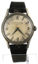 Vintage 1960's Girard Perregaux Gyromatic Stainless Steel 34mm Watch Swiss