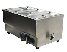 "Bain Marie 3 Pan Electric Food Warmer Restaurant Equipment Stainless Steel 6""Pan"