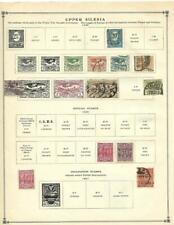 Small Mint, Used Upper Silesia Collection On A Scott Album Page - See!