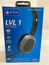 NEW - PlayStation 4  - Afterglow Lvl 1 Chat Headset Grey/Black - RRP$30