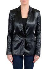 Viktor & Rolf Women's Wool Black One Button Blazer US S IT 40