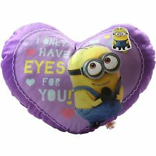 Minions Cushion 42 cm Heart I Only Have Eyes For You Gift Present Headrest
