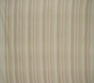 "Heavy Cotton Ribbed Bedspread  98"" x 88"" Tan on Beige"