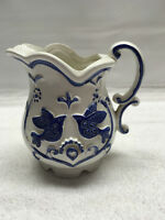 Rubens Mini Pitcher Creamer Japan White Blue Birds 2253X  vintage