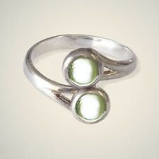 August (Peridot) Birthstone Ring By Art Pewter - MADE IN SCOTLAND
