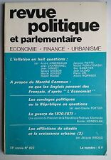 Revue Politique et Parlementaire 6/1971; L'inflation en huit questions