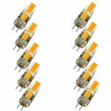10pcs Dimmable COB LED Light Bulb G4 6W AC DC 12V Wamr White Replace Lamp SE